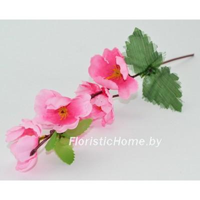 ИСКУССТВЕННЫЙ ЦВЕТОК Сакура, ткань, h 28 см, темно-розовый