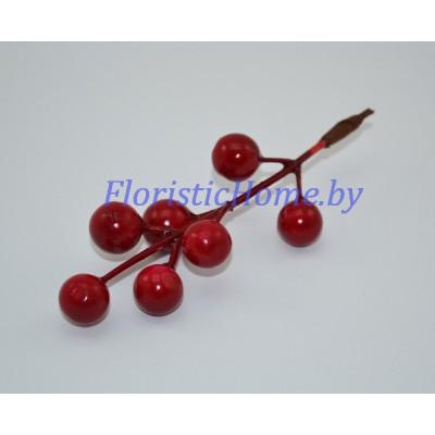 Ветка с ягодами, L 10 см, красный