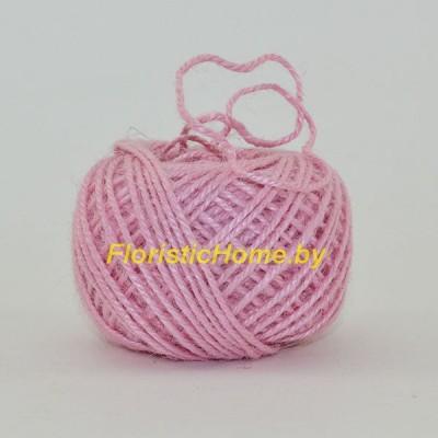ШПАГАТ ДЖУТОВЫЙ  d 0,2 см х 1 м , светло-розовый