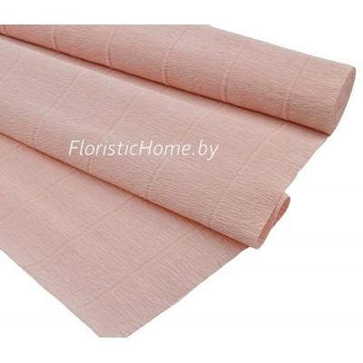 ГОФРОБУМАГА Италия 180 г/м, 17А/2, h 50 см х 125 см ( полрулона), лососево-розовый пастельный