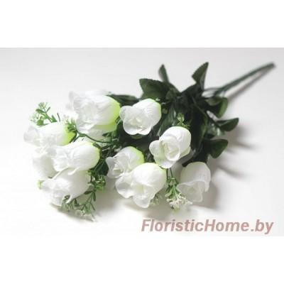 БУКЕТ ЦВЕТОВ Розы с мелкими вставками, h 50 см, белый
