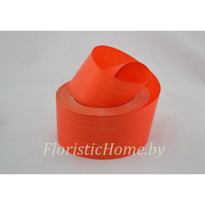 ЛЕНТА ПОЛИПРОПИЛЕНОВАЯ аспидистра, h 6 см х 1 м, оранжевый