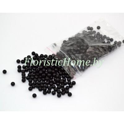 БУСИНКА, круглая, d 0,6 см, 20 гр., черный