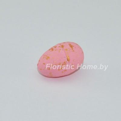ДЕКОР  Яйцо 1 шт, пенопласт в крапинку, L 3 см, розовый,