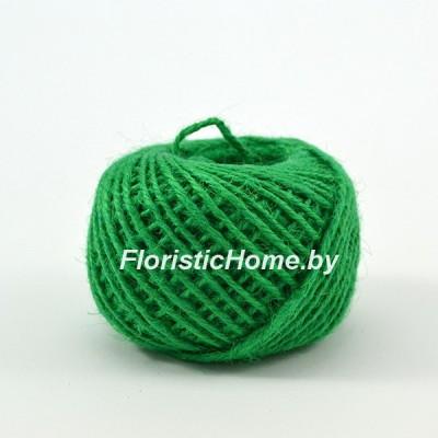 ШПАГАТ ДЖУТОВЫЙ  d 0,2 см х 1 м , зеленый