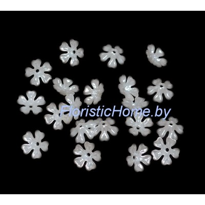 ПОЛУБУСИНА цветок 20 шт., d 1,5 см, молочно-белый,