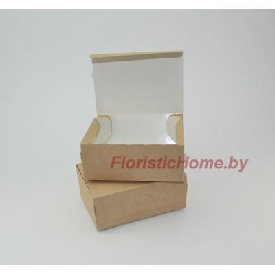 КРАФТ КОРОБКА eco tabox 500 new без окна, L12 х 8,5 см х h 5 см, натуральный,