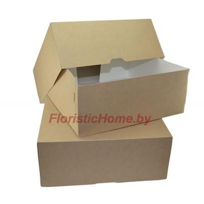 КРАФТ КОРОБКА eco cake 6000 без окна, L25,5 х 25,5 см х h 10,5 см, натуральный,