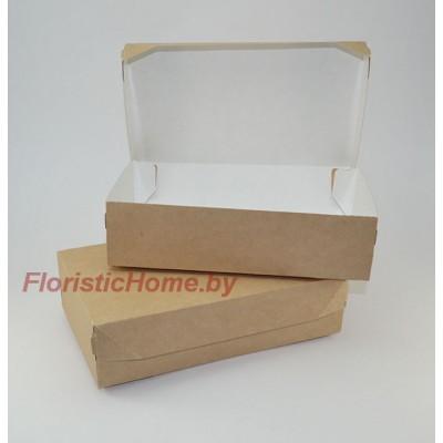 КРАФТ КОРОБКА eco cake 1900  без окна, L23 х 14 см х h 6 см, натуральный,