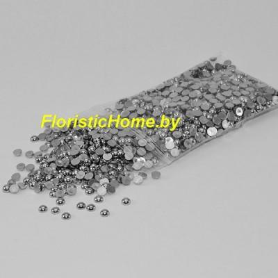ПОЛУБУСИНА металлизированная, d 0,4 см, стальной металлик, 20 гр.