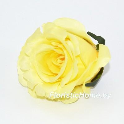 ГОЛОВКИ ЦВЕТОВ Роза бутон, d 6 см x L 6,5 см, светло-желтый