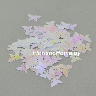 """ПАЙЕТКИ фигурные """"Бабочки"""" , d 1,7 см, 15 гр., в ассортименте"""