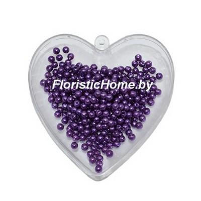 """БУСИНКА, """"под жемчуг"""" круглая, d 0,4 см, 20 гр., темно-фиолетовый"""