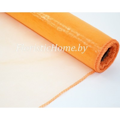 ОРГАНЗА , h 38 см х 1 м, светло-оранжевый
