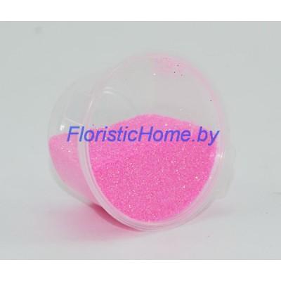 БЛЕСТКИ В баночке 14-16 гр. перламутровые, мелкой фракции, розовый,
