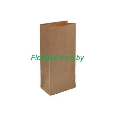 КРАФТ-ПАКЕТ с прямоугольным дном без ручек, 29 см х 18 см х 12 см  , натуральный