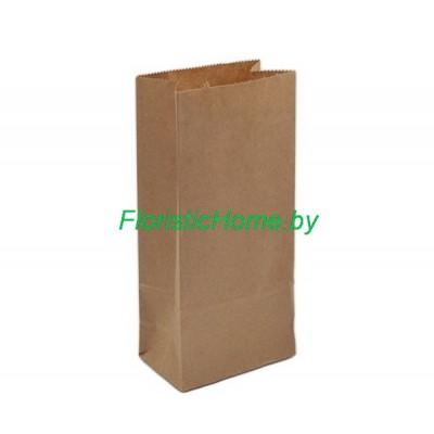 КРАФТ-ПАКЕТ с прямоугольным дном без ручек, 29 см х 22 см х 12 см  , натуральный