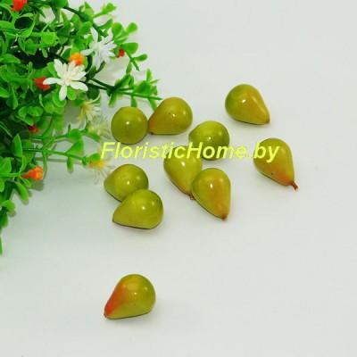 Груша, h 2 см, травяной-красный