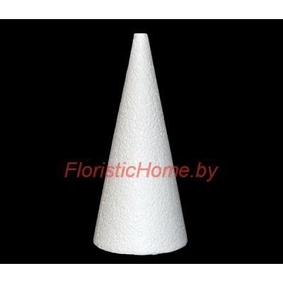 ПЕНОПЛАСТОВЫЙ КОНУС Усечённый, h 30 см х d 12 см, белый
