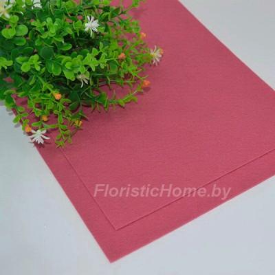 ФЕТР мягкий 1 мм, L 20 см х h 30 см, темно-кораллово-розовый