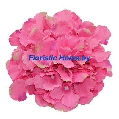 ГОЛОВКИ ЦВЕТОВ Гортензия резная , d 18 см х L 10 см, розовый-ванильный