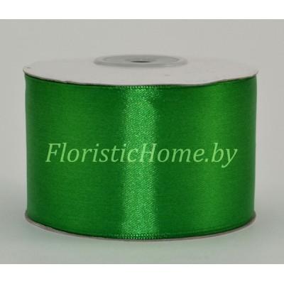 ЛЕНТА атласная, h 5 см х 27 м, светло-зеленый