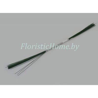 ПРОВОЛОКА герберная 50 шт., d 0.6 мм х L 40 см , , зеленый