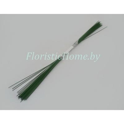 ПРОВОЛОКА герберная 50 шт., d 1,0 мм х L 40 см , , зеленый