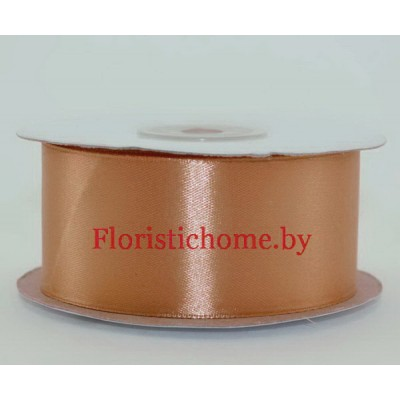 ЛЕНТА атласная, h 3,8 см х 1 м, кофейно-розовый