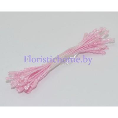 ТЫЧИНКИ Сахарные мелкие 25 штук в пучке , d 0,2 см, розовый,