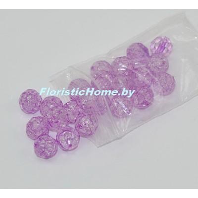 БУСИНКА, граненая, d 1,3 см, 20 гр., фиолетовый