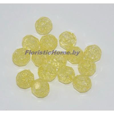 БУСИНКА, граненая, d 1,5 см, 20 гр., светло-желтый