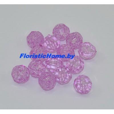 БУСИНКА, граненая, d 1,5 см, 20 гр., фиолетовый