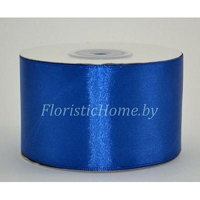 ЛЕНТА атласная, h 5 см х 27 м, светло-синий