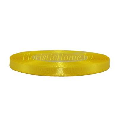 ЛЕНТА атласная, h 0,6 см х 27 м , желтый