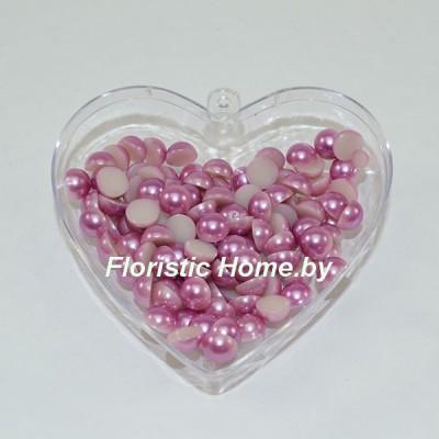 ПОЛУБУСИНА под жемчуг, d 0,8 см, лавандово-розовый, 20 гр.