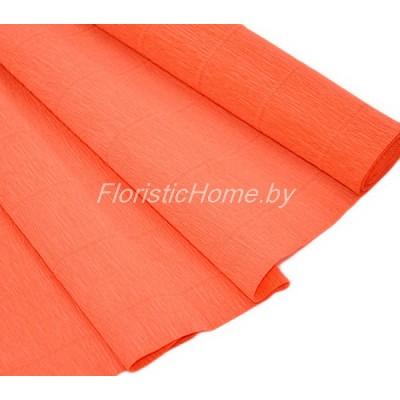 ГОФРОБУМАГА Италия 180 г/м, 17E/6, h 50 см х 250 см, темно-оранжевый