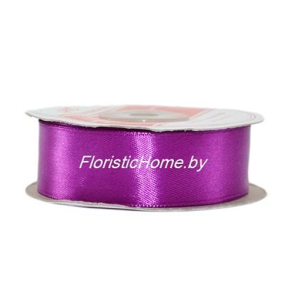 ЛЕНТА атласная, h 2,5 см х 27 м, ярко-фиолетовый