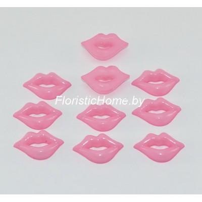 ГУБКИ 10 шт., d 2 см х 1,4 см, розовый