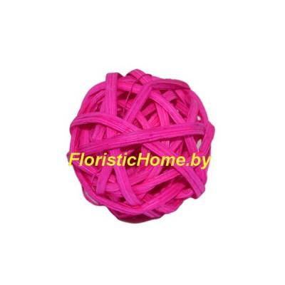 Ротанговый шар, d 3 см, малиновый
