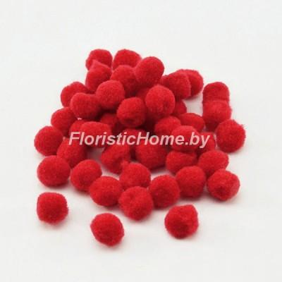 ДЕКОР  Помпоны 30 шт., , d 1,8 см, красный,